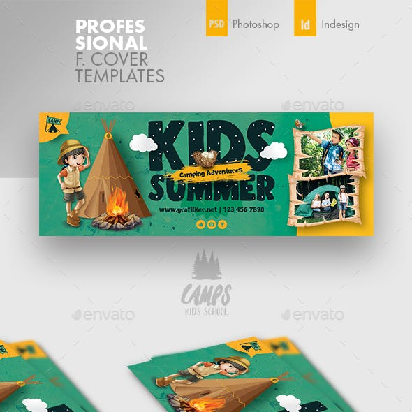 Kids Summer Camp Cover Templates