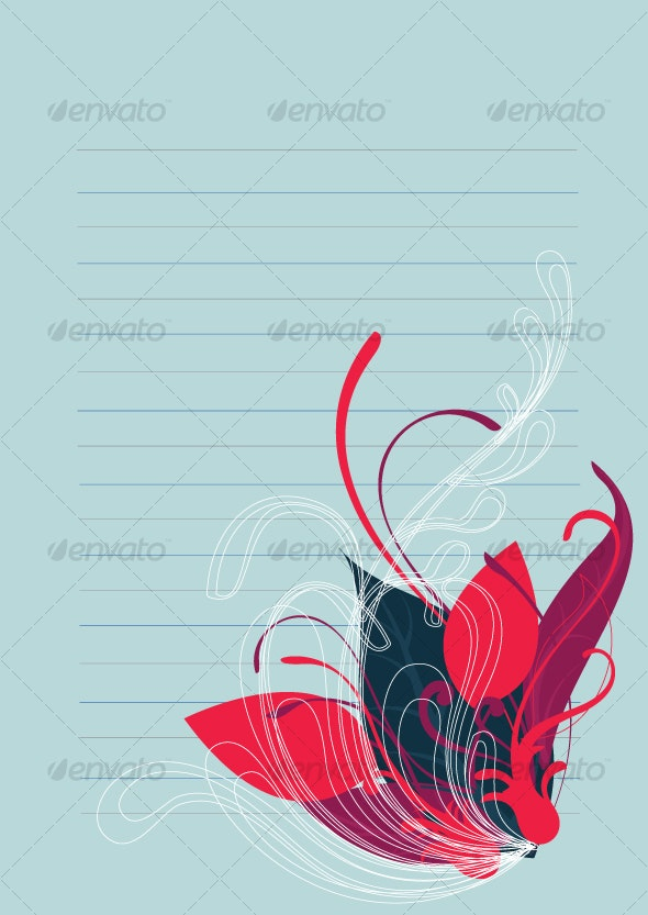 Floral background in vibrant colorful shades - Decorative Vectors