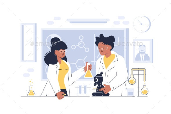 Doctors Working at Laboratory - Miscellaneous Conceptual