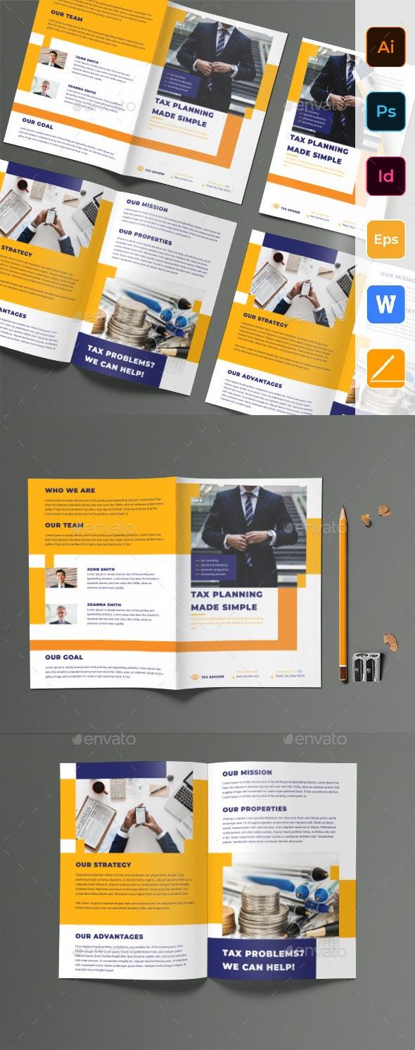 Tax Advisor Bifold Brochure - Corporate Brochures