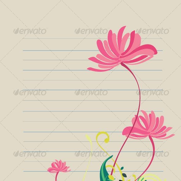 Floral background design pattern in vibrant shades