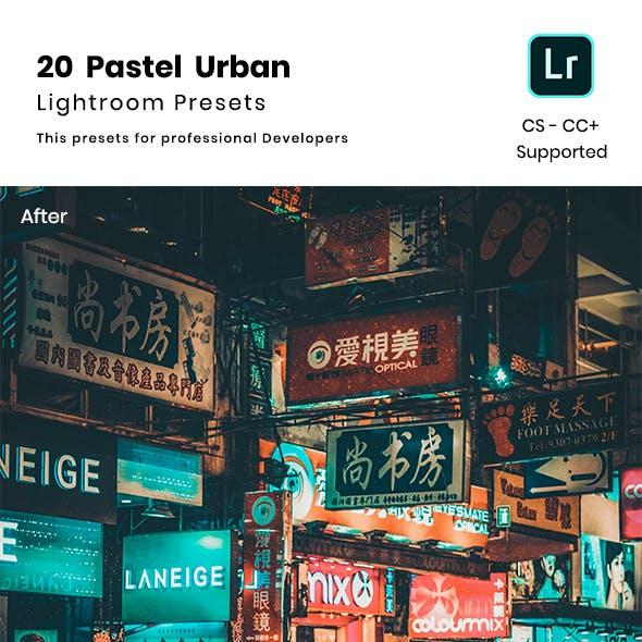 20 Pastel Urban Lightroom Preset
