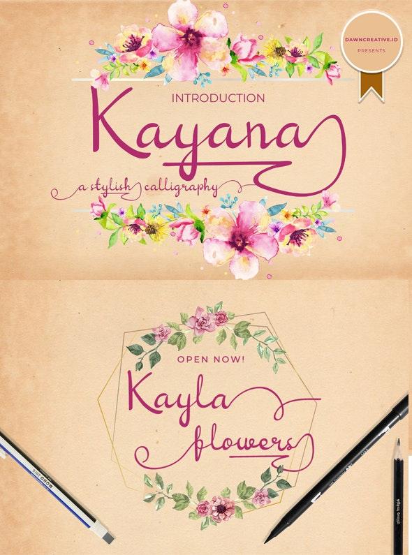 Kayana Script - Calligraphy Script