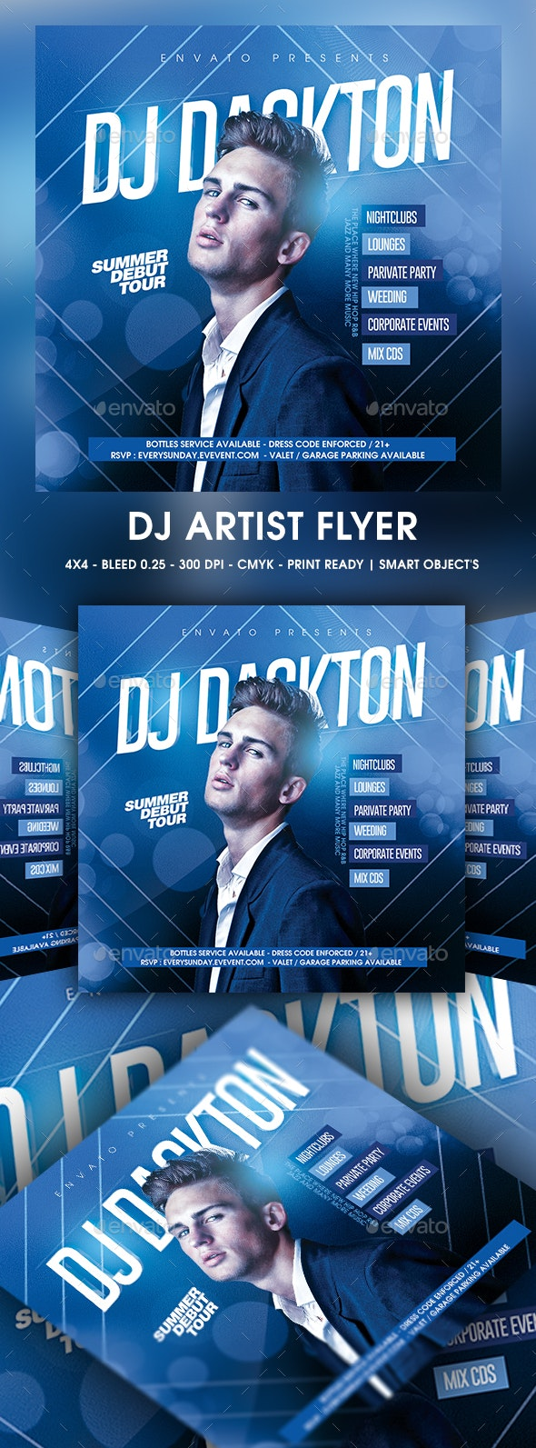 DJ Artist Flyer - Clubs & Parties Events