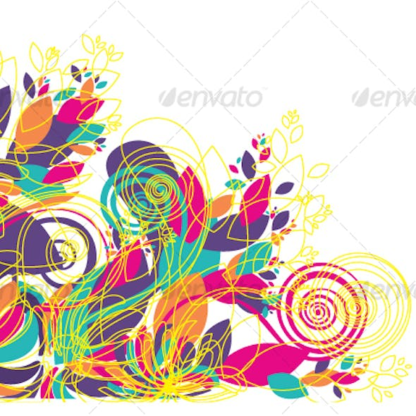 Floral background design patterns