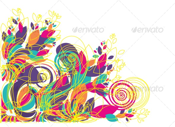 Floral background design patterns  - Decorative Vectors
