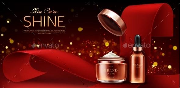 Cream Jar and Serum Pipette Tube Beauty Product - Health/Medicine Conceptual