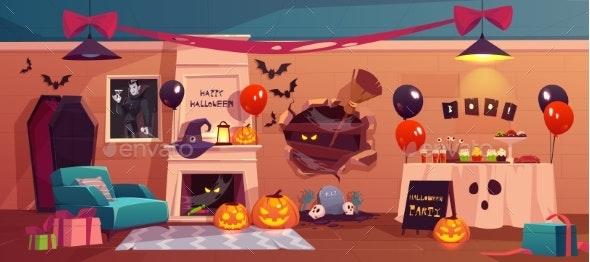 Halloween Interior for Party Celebration - Halloween Seasons/Holidays