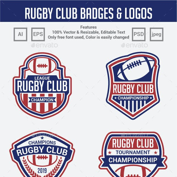 Rugby Club Badges & Logos