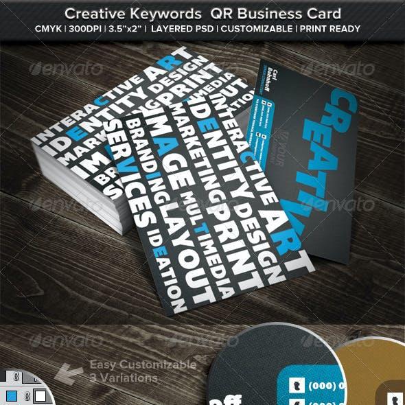 Creative Keywords QR Business Card