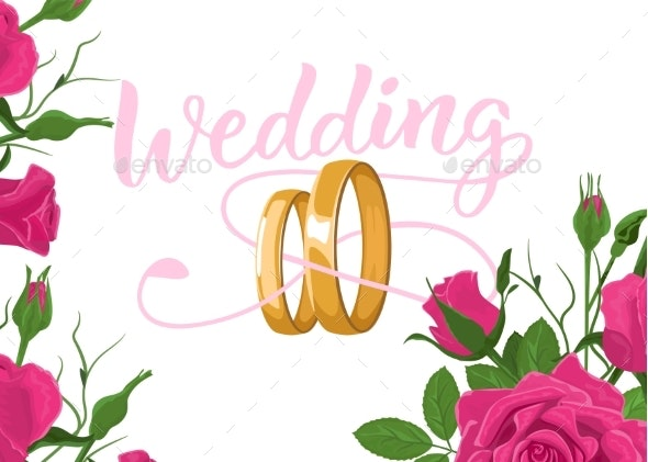 Floral Wedding Invitation Card Template Design - Weddings Seasons/Holidays