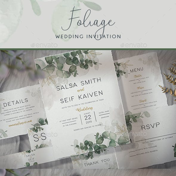Foliage Wedding Invitation