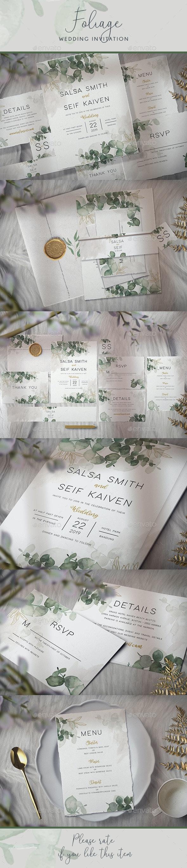 Foliage Wedding Invitation - Weddings Cards & Invites