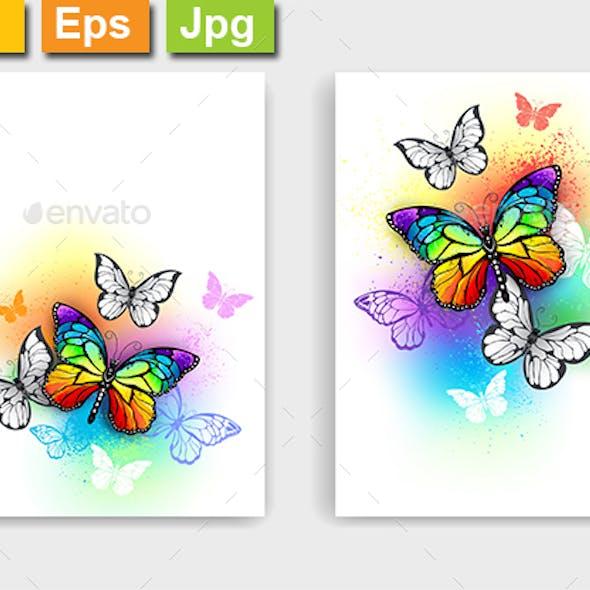 Design with Rainbow Butterflies