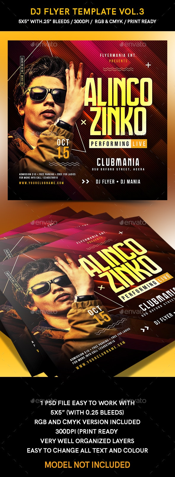 Dj Flyer Template Vol.3