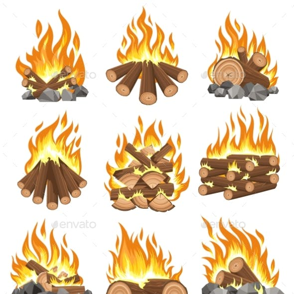 Bonfire Firewood Set