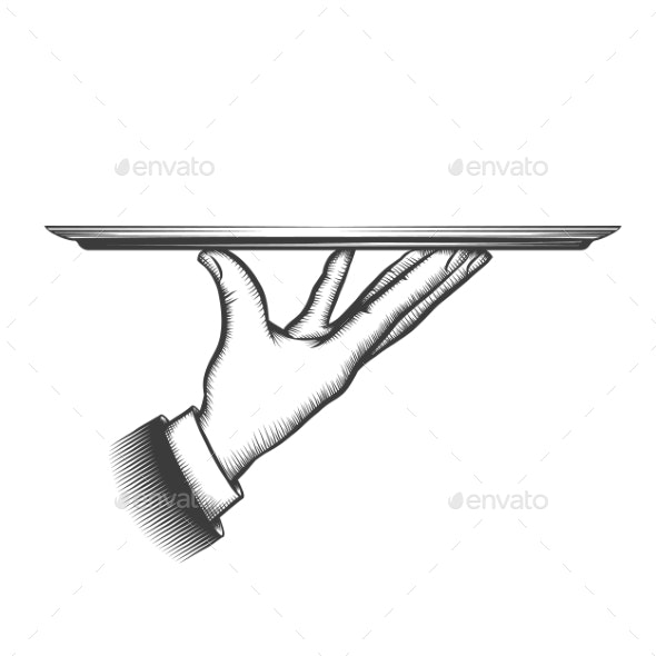 Butler Serving Tray - Food Objects