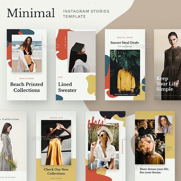 Miminal Instagram Stories Template