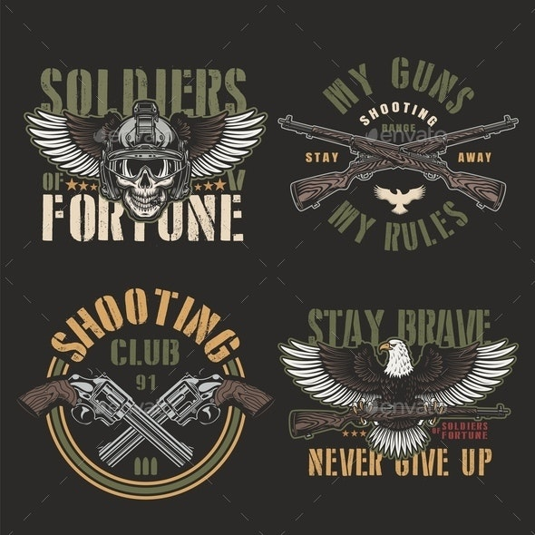 Vintage Army and Military Emblems - Miscellaneous Vectors