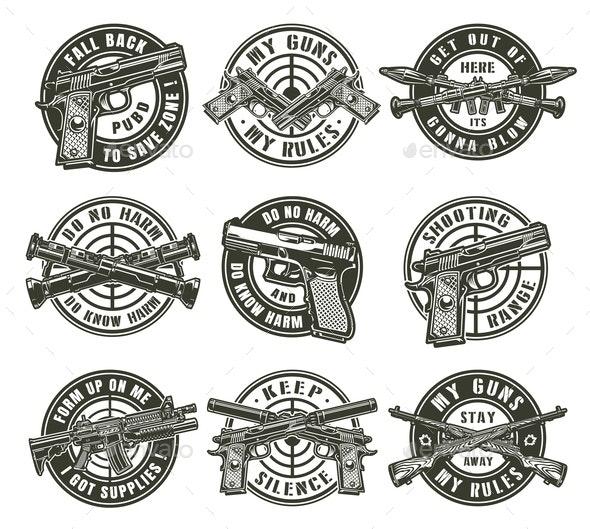 Vintage Military Labels - Miscellaneous Vectors