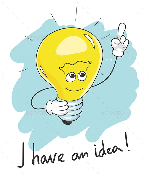 I Have an Idea Light Bulb - Miscellaneous Characters