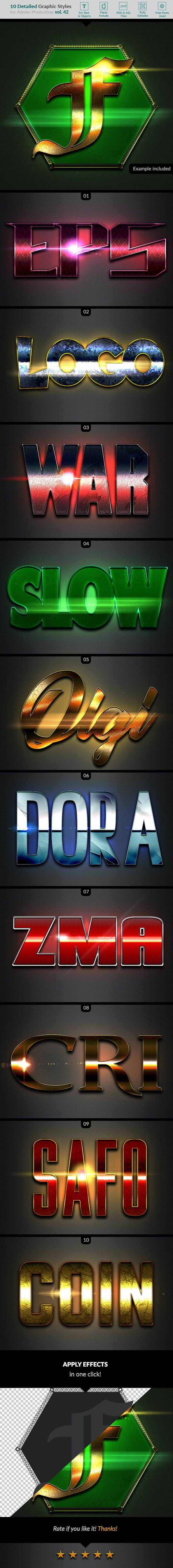 10 Text Effects Vol. 42 - Text Effects Styles
