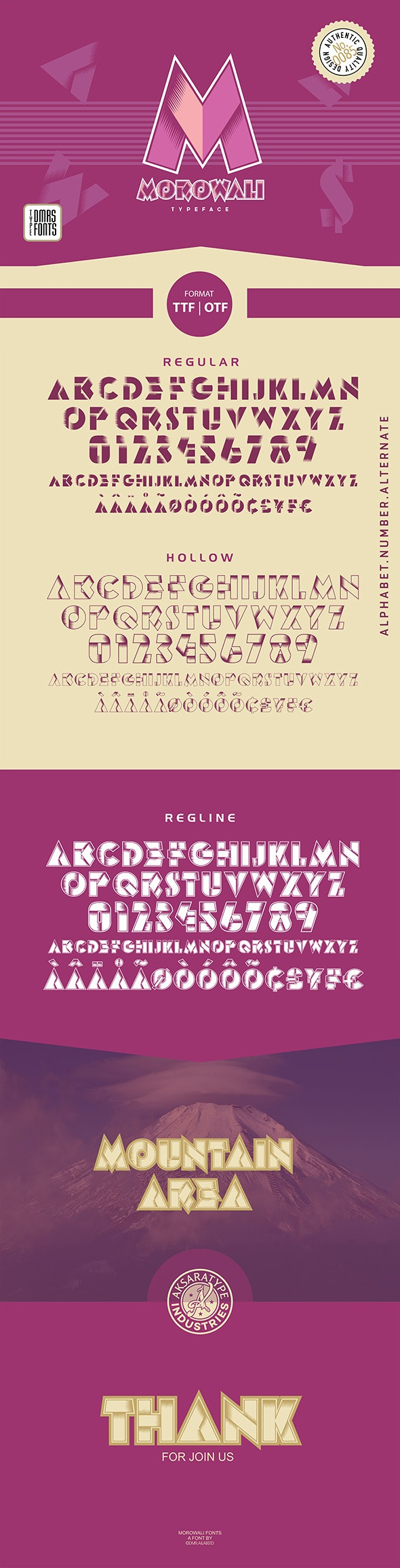Morowali Font - Decorative Fonts