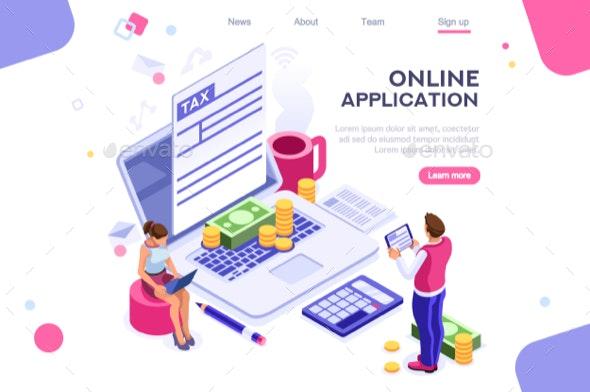 Tax Bills Form Landing Page - Web Technology
