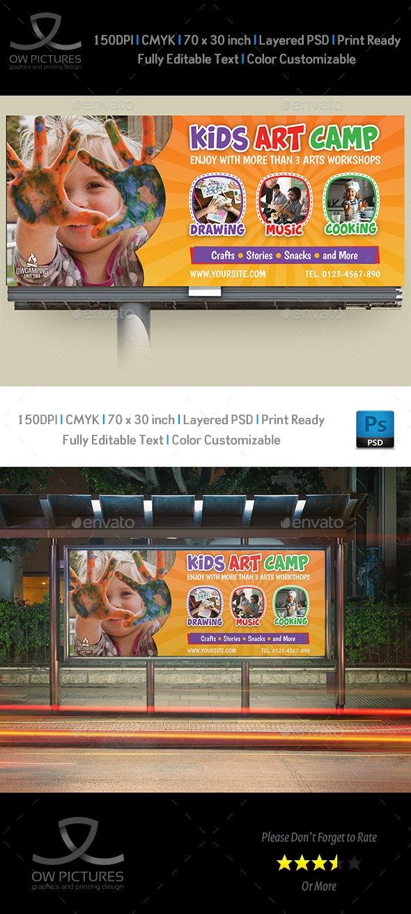 Kids Art Camp Billboard Template - Signage Print Templates