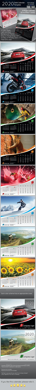 2020 Desk Calendar Template - Calendars Stationery