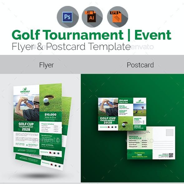 Golf Event Flyer & Postcard Bundle