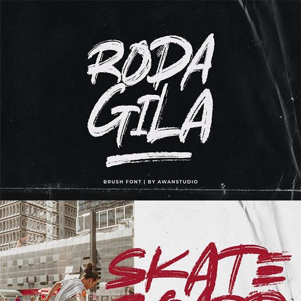 Rodagila Brush Font