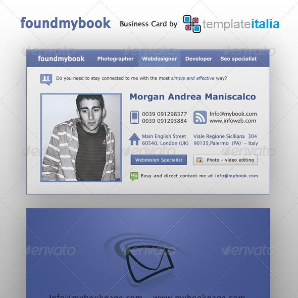 Foundmybook Personal Business Card