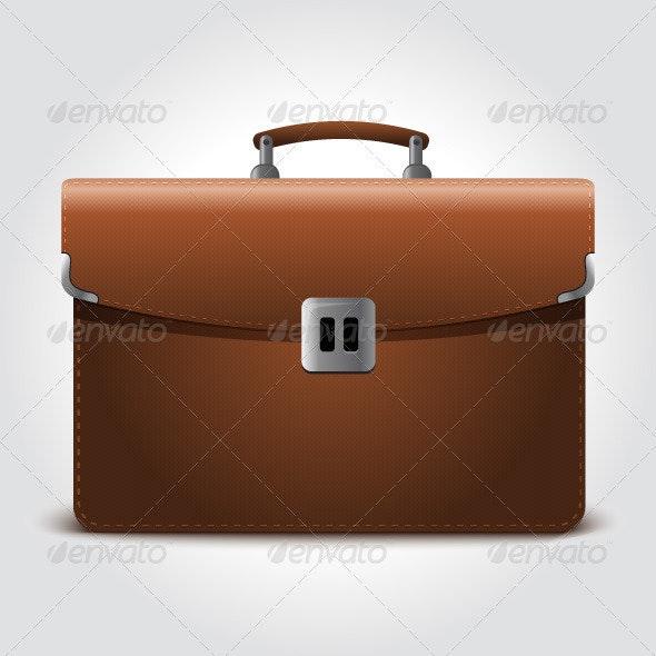 Business Brown Briefcase