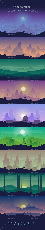 Backgrounds V1 - Backgrounds Game Assets