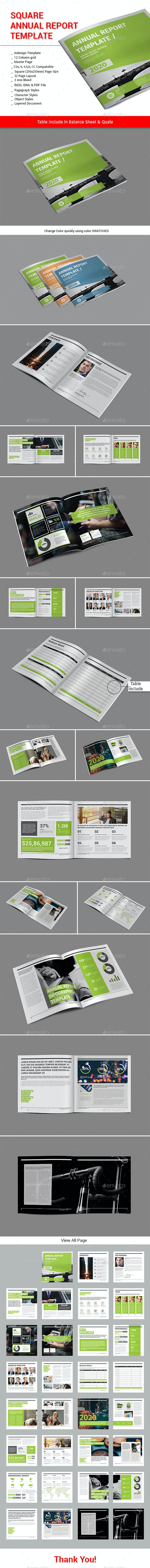 Square Annual Report Template - Informational Brochures
