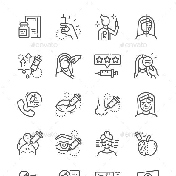 Botox Line Icons