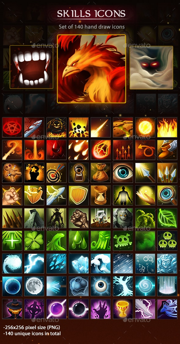 Skills Icons - Miscellaneous Game Assets