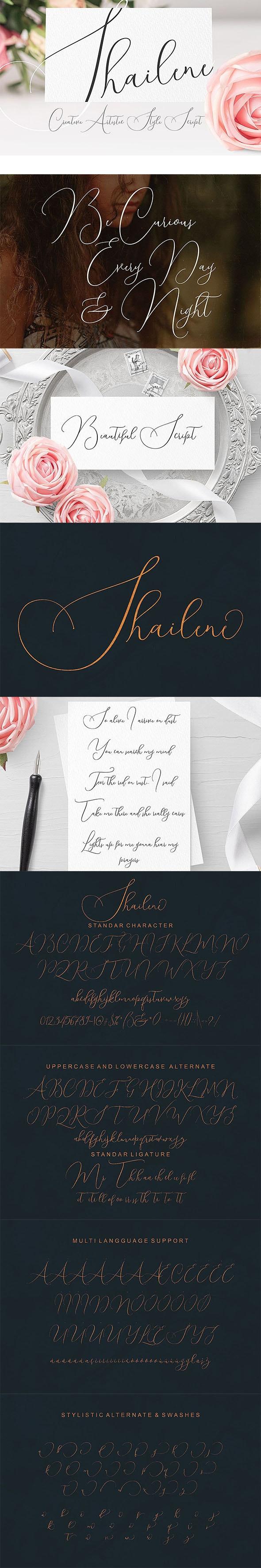 Shailene Script Font - Calligraphy Script