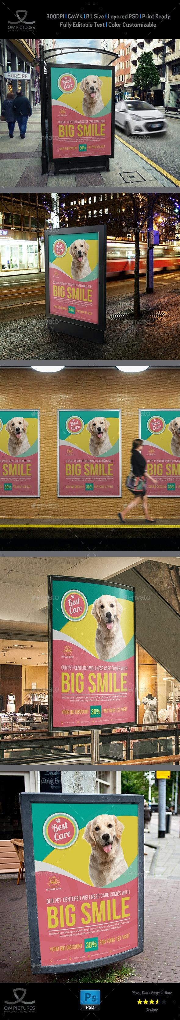 Pet Care Center Poster Template Vol.2 - Signage Print Templates