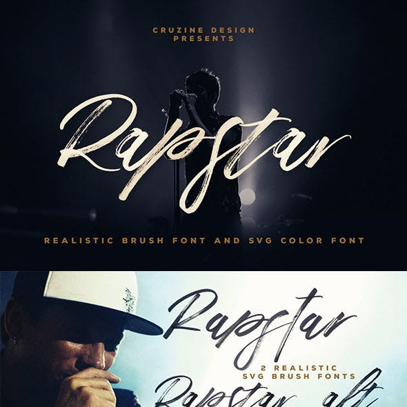 Rapstar Brush & SVG Font