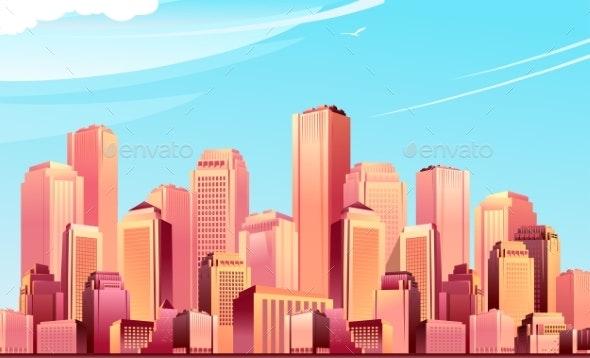 Modern City Metropolis - Buildings Objects