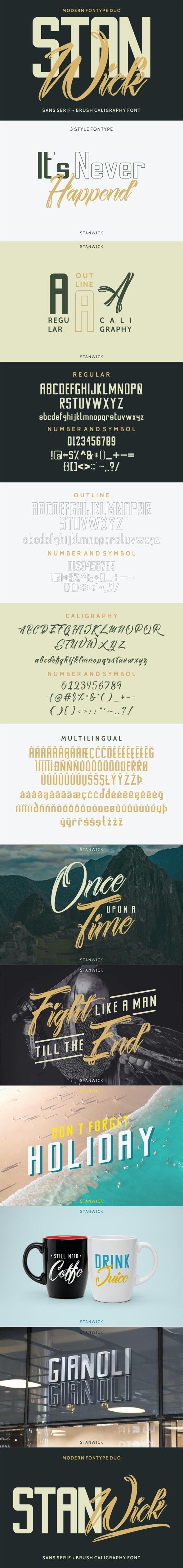 Stanwick Font Duo - Calligraphy Script