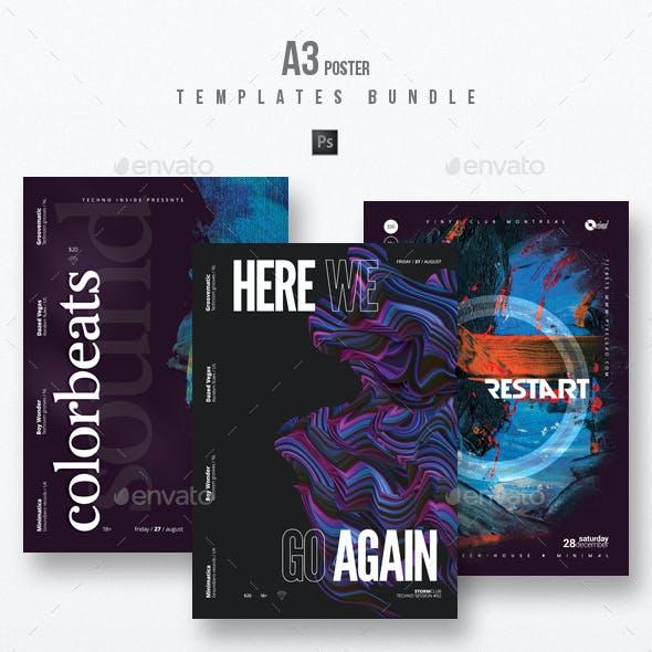 Progressive Sound vol.20 - Party Flyer / Poster Templates Bundle