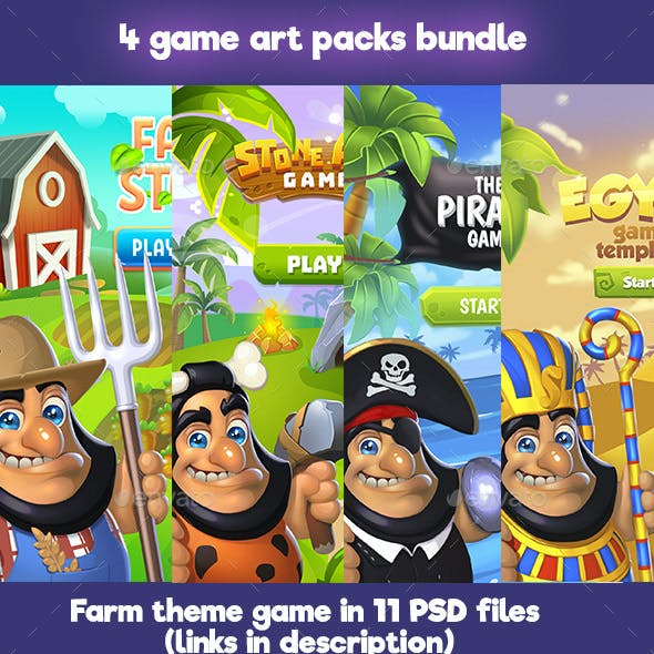 Bundle of 4 Game Art Packs