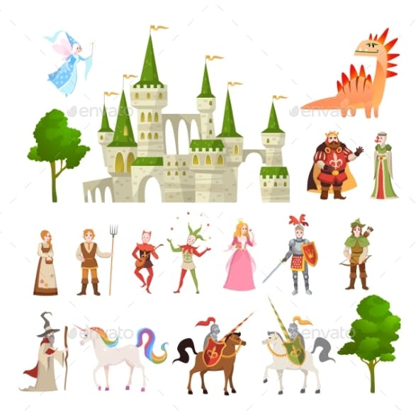 Fairytale Characters. Fantasy Medieval Magic