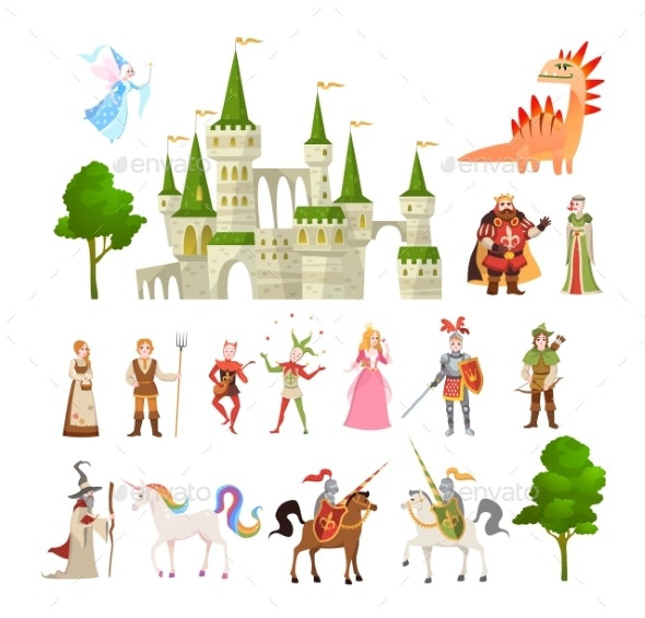 Fairytale Characters. Fantasy Medieval Magic - People Characters