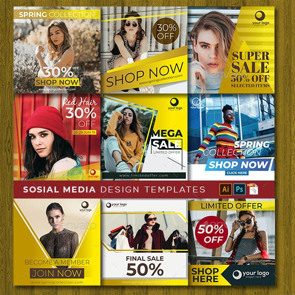 Social Media Design Templates Vol. 11