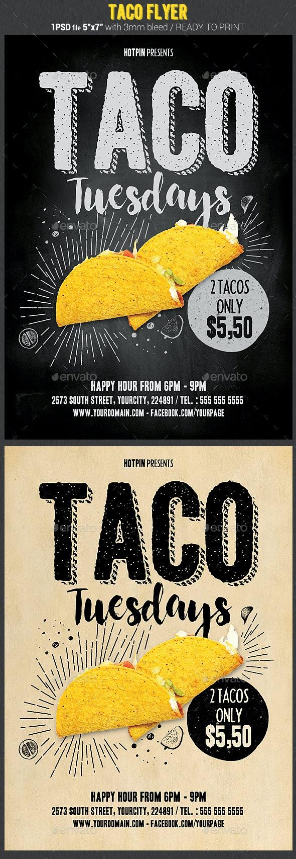 Taco Flyer Template - Restaurant Flyers