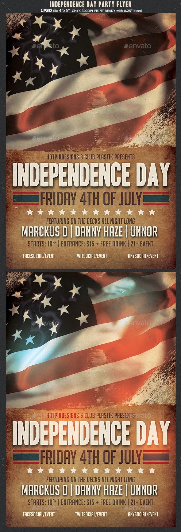 4th of July | Independence Day Flyer - Events Flyers